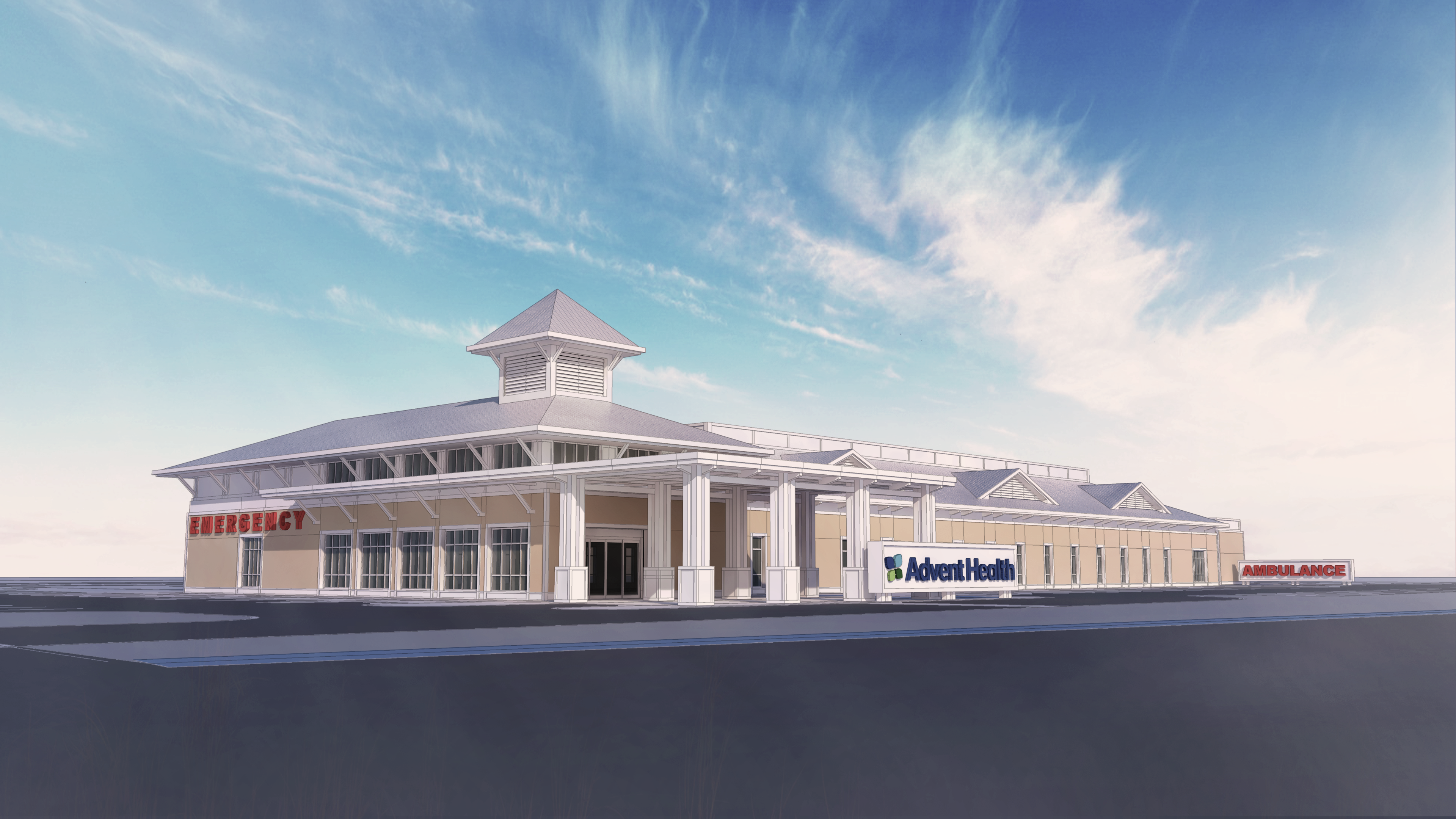 Palm Parkway ER Exterior Rendering